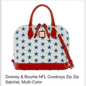 Dooney & Bourke NFL Cowboys Zip Zip Satchel